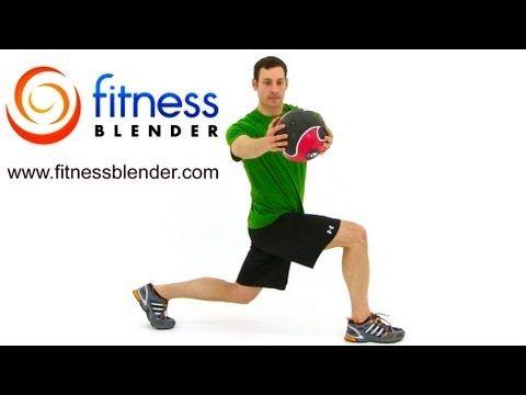 27 Minute Total Body Medicine Ball Workout - Medicine Ball Exercises, Fitness Blender