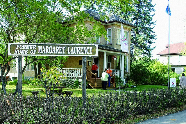 Visiting Margaret Laurence's home in Neepawa, Manitoba, Canada.