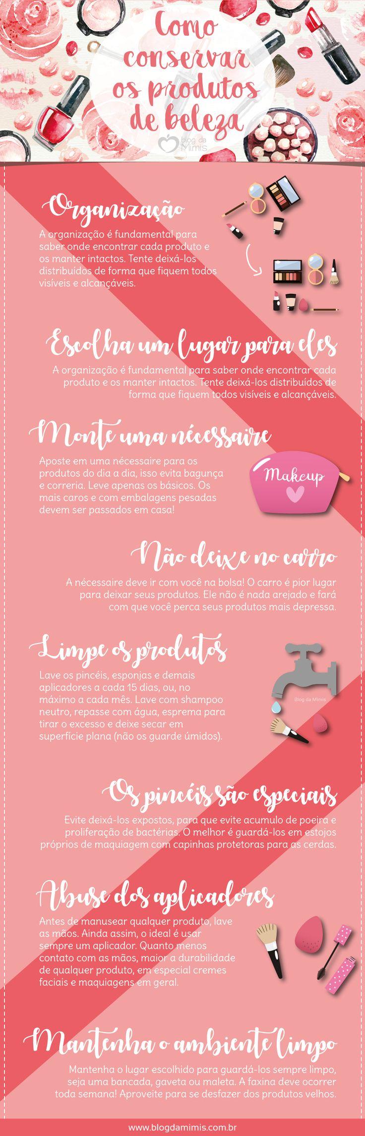Como conservar os produtos de beleza - Blog da Mimis