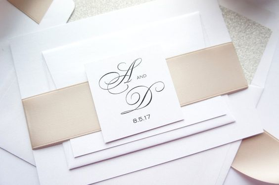When we are looking at neutral, this is what comes to mind. Simple, classic and beautiful tones for your wedding invitation