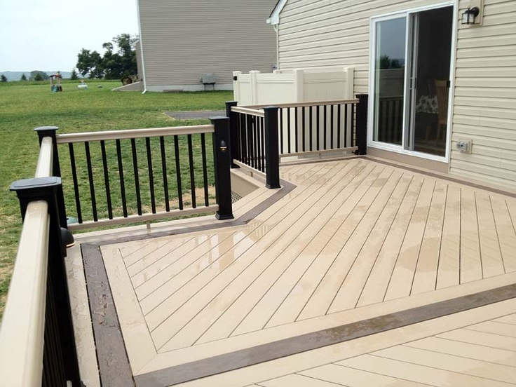 Deck Board Layout Patterns ~ Timbertech deck with herringbone pattern images frompo