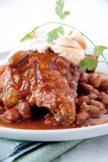 Mexican chicken and bean stew from Simply Delicious.