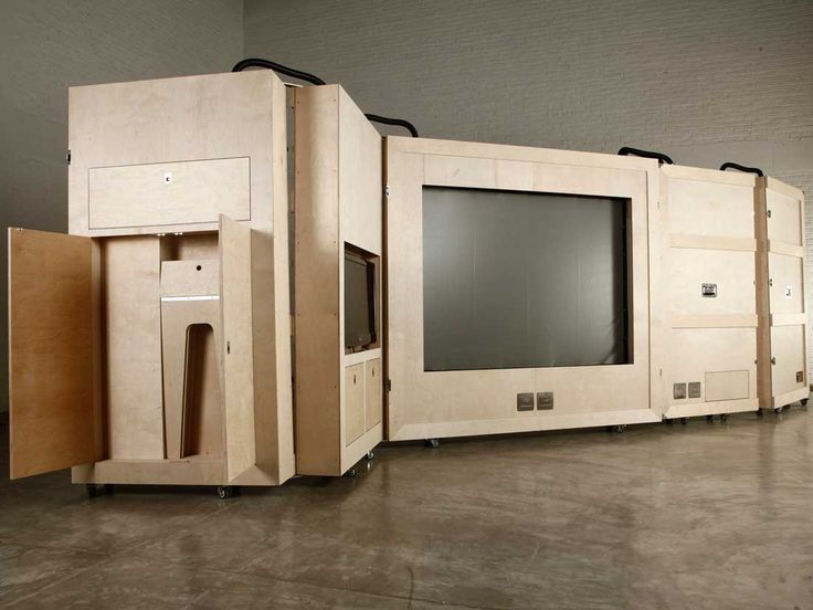 Naihan Li, collection The Crates, unité mobile qui rappelle furieusement les unités mobies de Joe Colombo