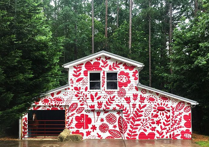 gigantic barn mural