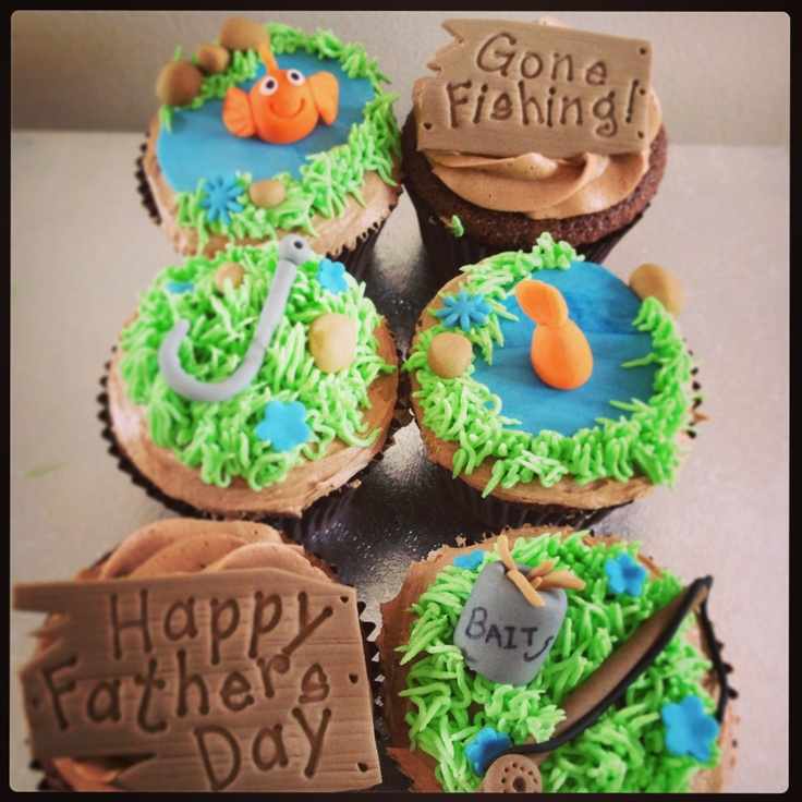 Best 20 fishing cupcakes ideas on pinterest for Fishing themed cake toppers