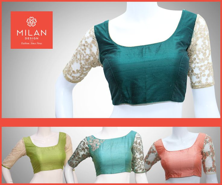 Peacock Blue Raw Silk Princes Cut Back Open Blouse With Designer Net Sleeve. #MilanDesign Presents Variety Collections Of Blouse visit our site : www.milandesign.in #milanweddingsarees #milanfashionsarees #milanladiessarees #ladiesfashionsarees #milanpartywearsarees #milankanchipuramsarees #Milandesignersarees #Milansarees #Milandesignsarees #Blousematerials #blouse #designerblouses