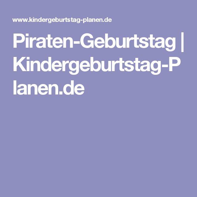 Piraten-Geburtstag | Kindergeburtstag-Planen.de