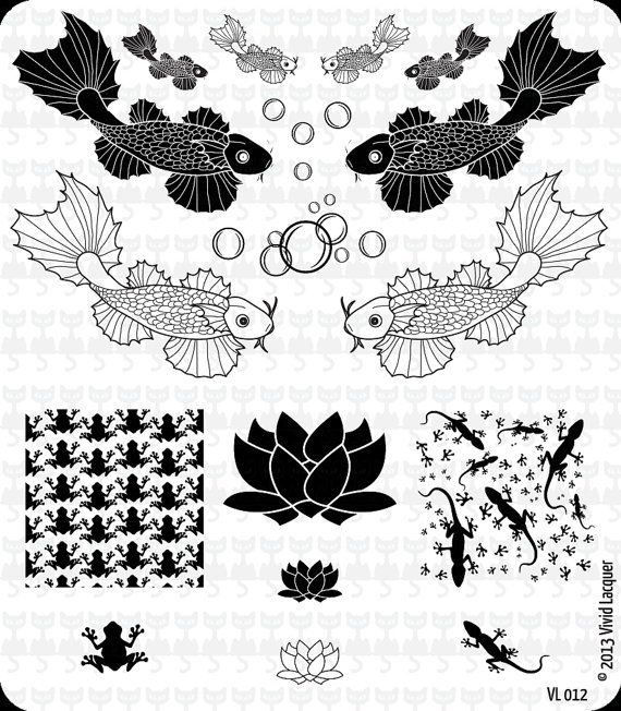 VL 012 Nail Art Stamping Plate by VividLacquer on Etsy, $8.00