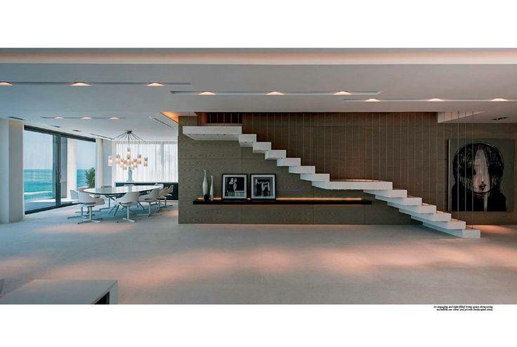 villa white idee escalier