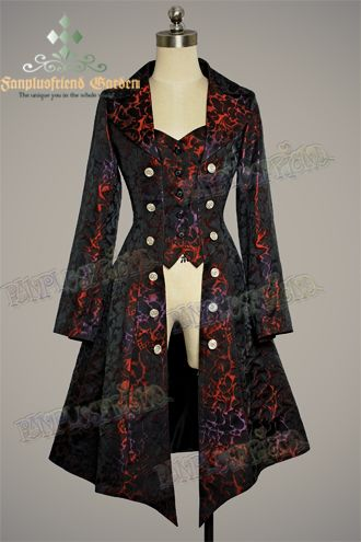 Gothic Aristocrat: Embellished-Vest Pirate Brocade Jacket