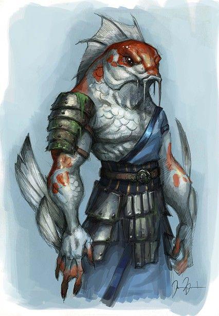 Teriomorfo- Hombre- Pez- Criatura- Monstruo- Fantacia