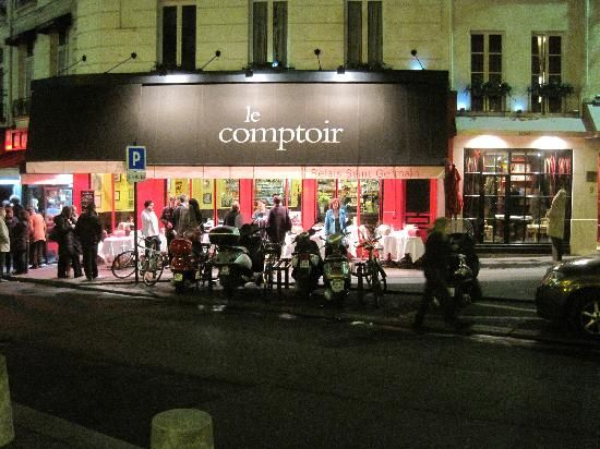 Le Comptoir -- brasserie menu for lunch -- supper is a no-go, requiring reservations months in advance