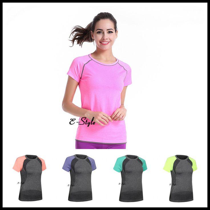 7 Colors Sports Dress Gym Workout Dress Fitness Soft T-Shirt Yoga Running Tops