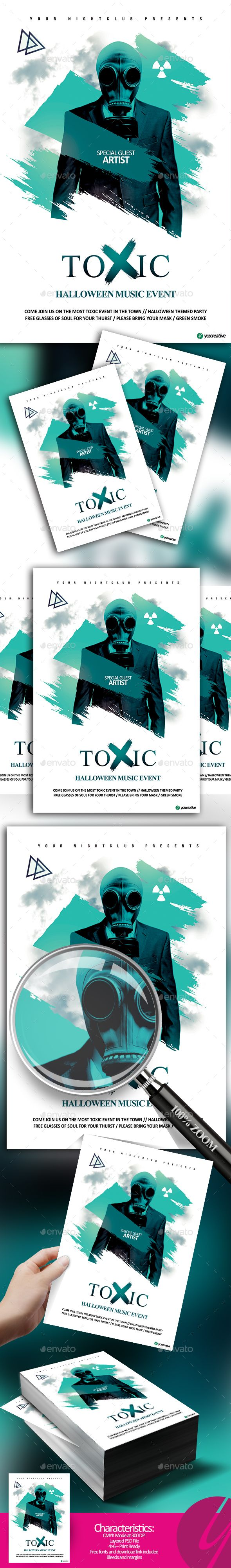 Toxic Music Event Flyer Template PSD
