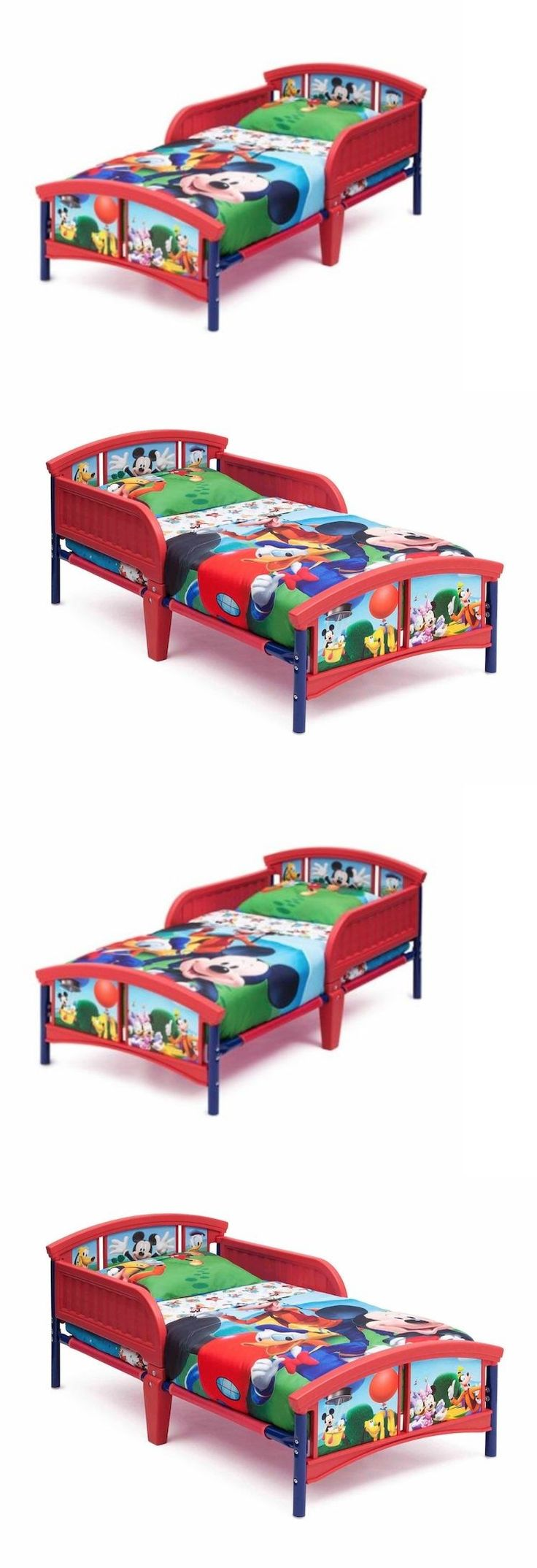 Kids Furniture: Disney Mickey Mouse Toddler Bed Kids Beds With Rails Children Bedroom Furniture BUY IT NOW ONLY: $84.87