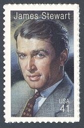 James Stewart - Single Stamp 13th in Legends of Hollywood Series United States, 2007