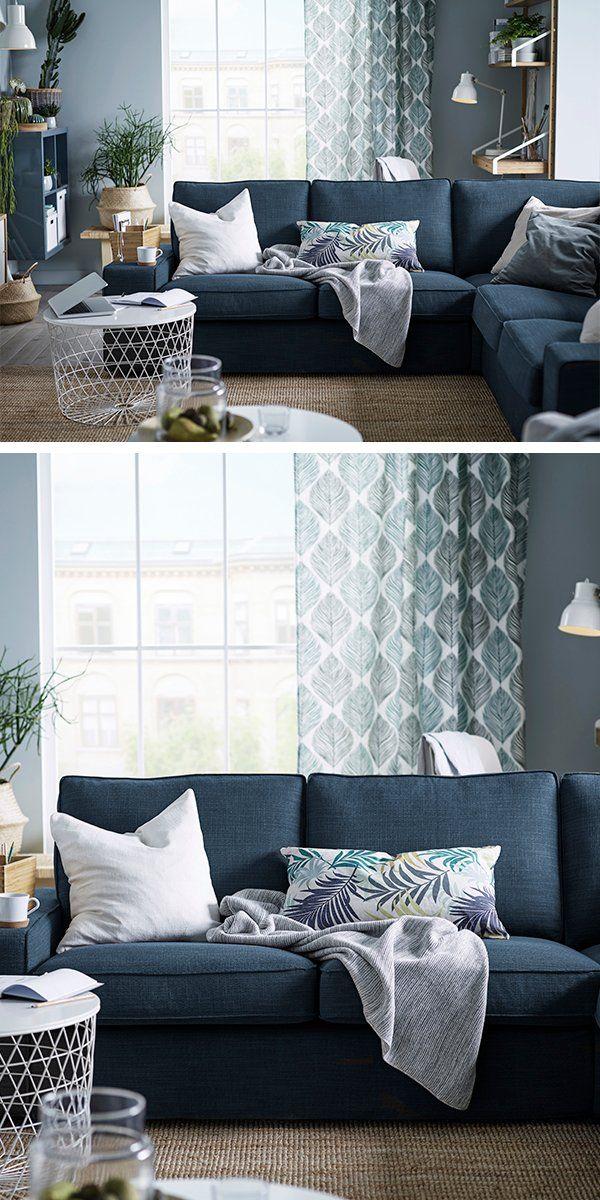 Fundas para Kivik en azul marino, ¿las siguientes para nuestro sofá?