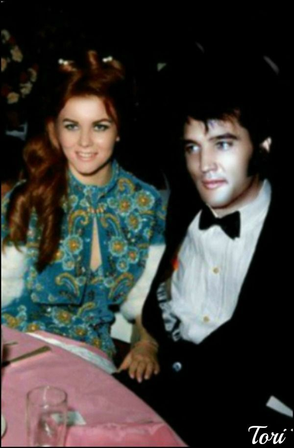 (A lost pin)...Elvis and Ann-Margaret 1969...check out where her hand is....a little intimate for two married people???