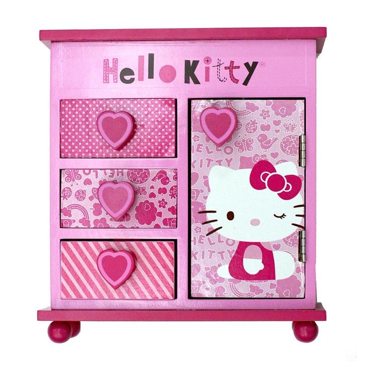 Hello kitty armoire jewelry box hello kitty pattern pink fashion accessory bazaar toys - Armoire tissu hello kitty ...