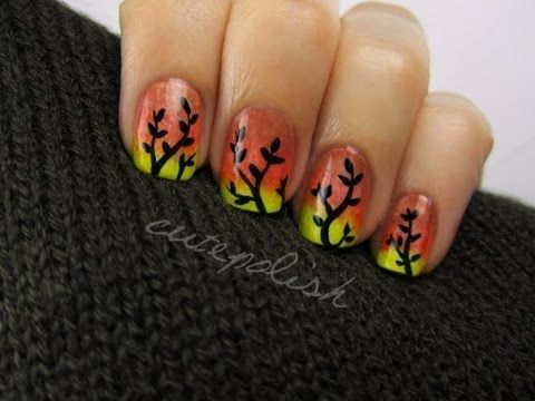 Autumn Ombre Nails By Cutepolish