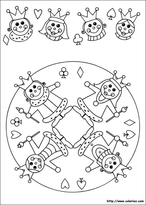 Mandala et frise de roi et de reine