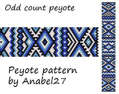 Peyote pattern  beadwork  peyote bracelet pattern  by Anabel27shop, $5.00