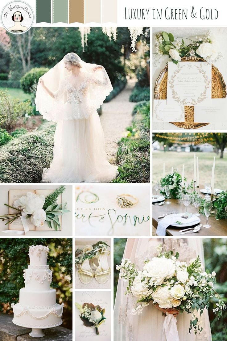 Luxury In Green & Gold – Romantic Wedding Ideas Inspired by Tuscany
