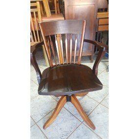 Cadeira Xerife Antiga Giratoria E Reclinavel (only Wood)