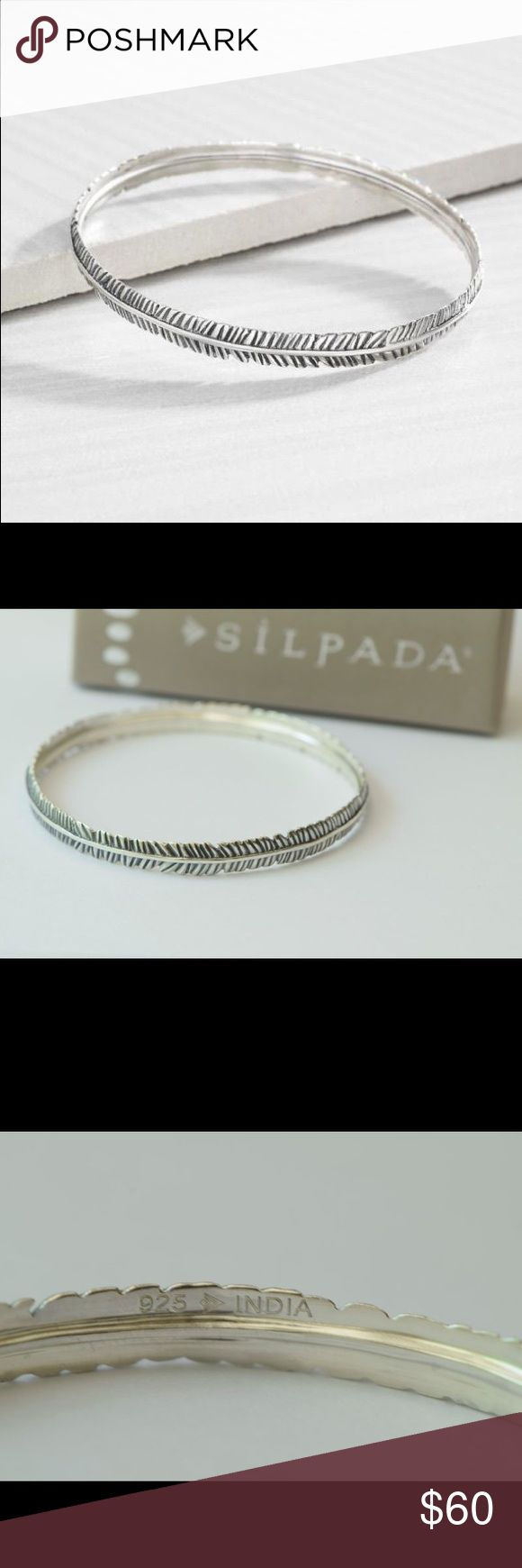 Silpada Designs.925 Sterling Silver feather bangle .925 Sterling silver bangle Silpada Jewelry Bracelets