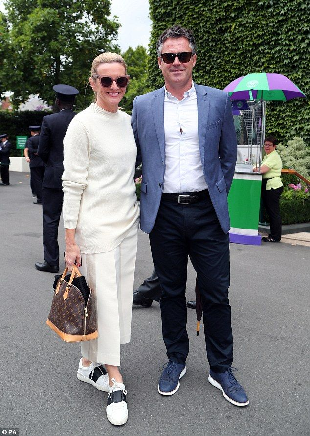 Sporty crowd: Also in attendance on Tuesday was sports presenter Gabby logan and her former rugby player husband Kenny