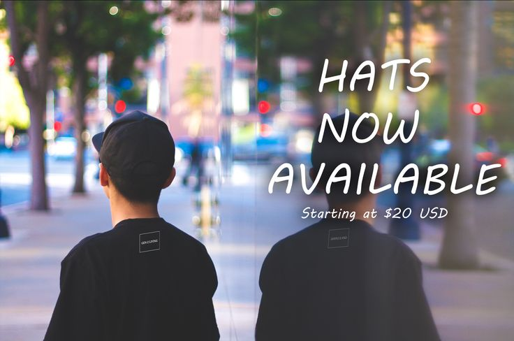 hats now available poster