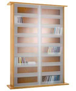 Fresh Dvd Storage Cabinet with Sliding Glass Doors