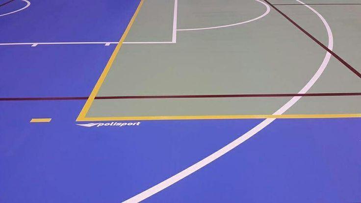 Polisport kapalı spor salonu zemin kaplamaları, poliüretan kaplama.