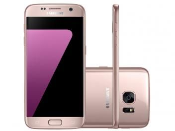"Smartphone Samsung Galaxy S7 Flat 32GB Rosê - 4G Câm. 12MP + Selfie 5MP Tela 5.1"" Quad HD"