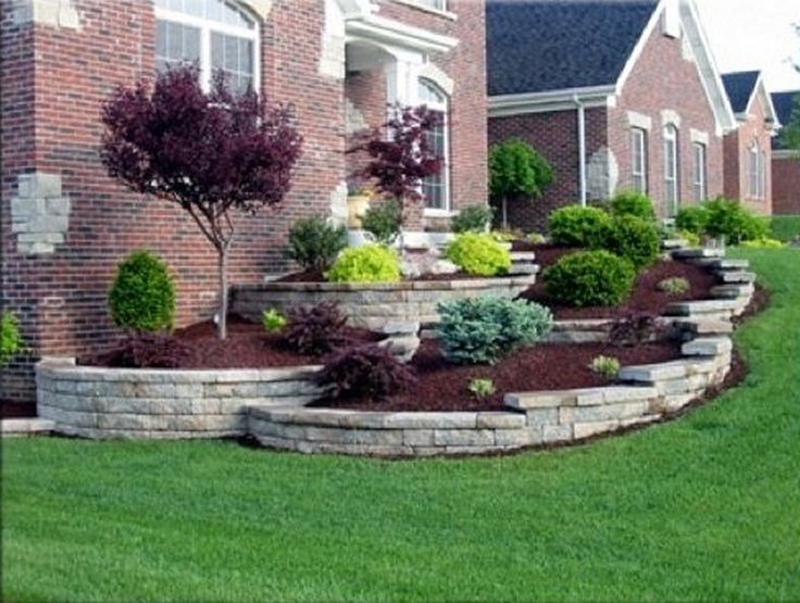 Sloping Front Garden Design