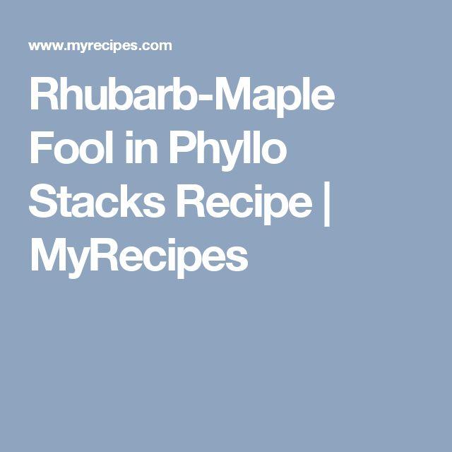 Rhubarb-Maple Fool in Phyllo Stacks Recipe | MyRecipes