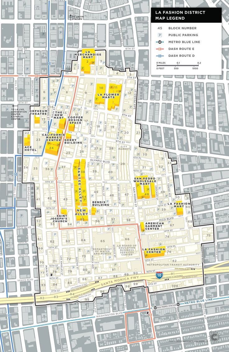 Best  La Fashion District Ideas On Pinterest - Los angeles map districts