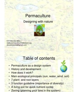 Permaculture Presentation in English