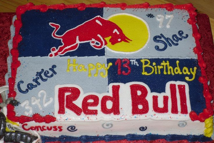 Red Bull Cake Images