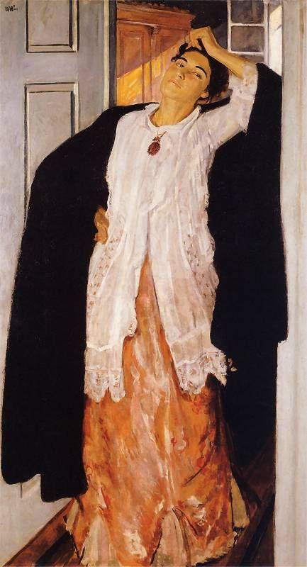 Wojciech Weiss - Renia w drzwiach, 1909