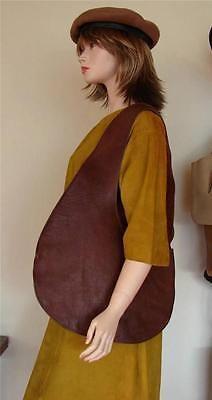 Bonnie cashin для тренера тела сумка мешок коричневой кожи редкое музейное архив кусок винтаж