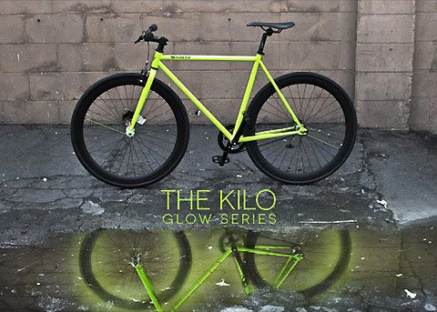 Neon bicycles that glow wherever you go at night
