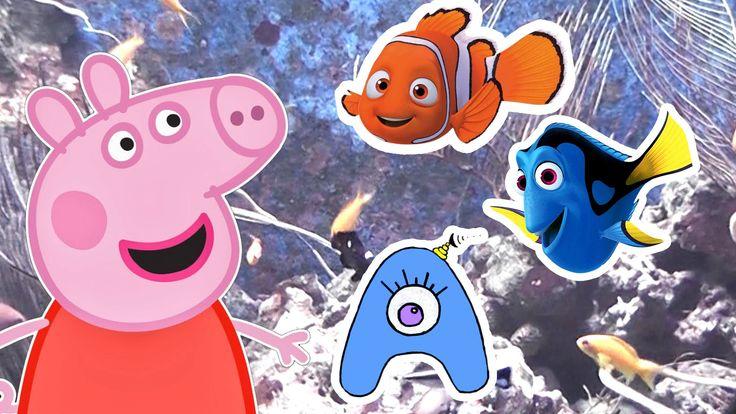 Свинка Пеппа гуляет по аквариуму. Рыбки! СамиСамиТВ