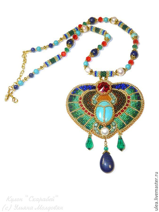 Buy Egyptian scarab pendant on Livemaster online shop