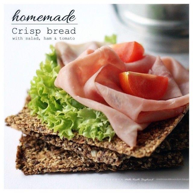 Homemade Crisp Bread - from MissMette -- https://www.facebook.com/pages/Miss-Mette/199262506800520