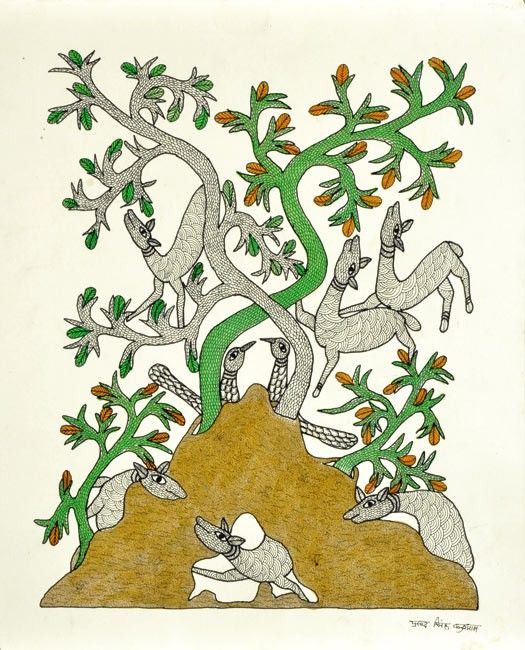 Tree of Joy - Gond art of India