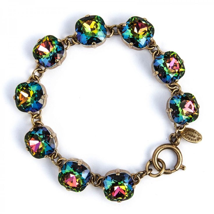Catherine+Popesco+Bracelet | ... Stone Crystal Bracelet - Heavy Vitrail and Gold - Catherine Popesco