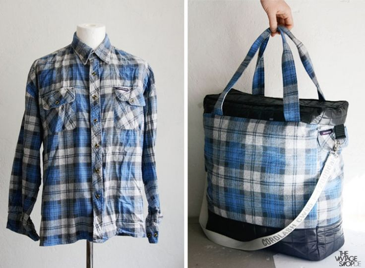 Upcycled shirt to tote bag - great way to repurpose shirts you can get at Bargain Center in Eau Claire