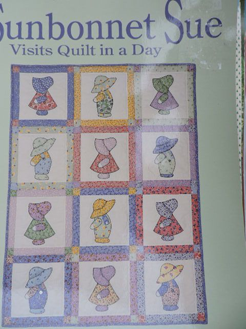 SeeSallySew.com - Sunbonnet Sue Visits Quilt in a Day Series by Eleanor Burns Book , $16.00 (http://stores.seesallysew.com/sunbonnet-sue-visits-quilt-in-a-day-series-by-eleanor-burns-book/)