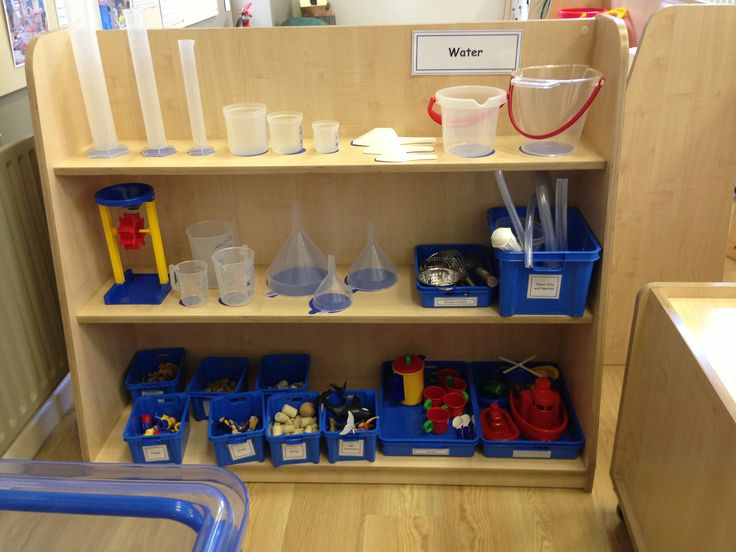 Water area at Early Excellence- can see all supplies, space for things to dry